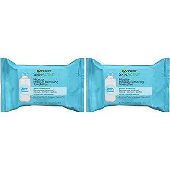 Makeup Remover Micellar Gentle Cleansing Wipes for Waterproof Makeup by Garnier SkinActive 25 Count