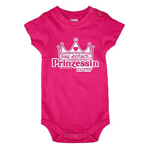 Body de bébé – Body de bébé – Rose – Même si vos fille peut pas encore parler, c'est vrai déjà vos Kleine Prinzessin – Sag facile Princesse à avec – Différentes tailles un cadeau idéal mois (68/74)