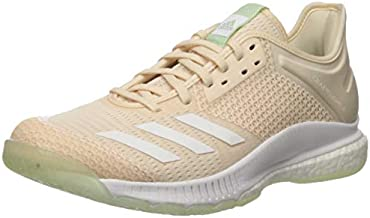 adidas Women's Crazyflight X 3 Volleyball Shoe, Linen/White/Glow Green, 10 M US