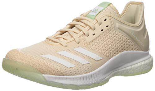 adidas Women's Crazyflight X 3 Volleyball Shoe, Linen/White/Glow Green, 11 M US
