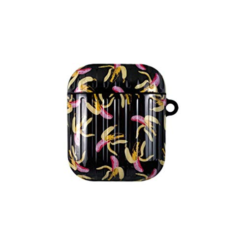 onder nieuwe Banana airpods 1/2 generatie beschermende cover airpods pro hoofdtelefoon koffer bagage stijl te koop, airpodspro, Zwart