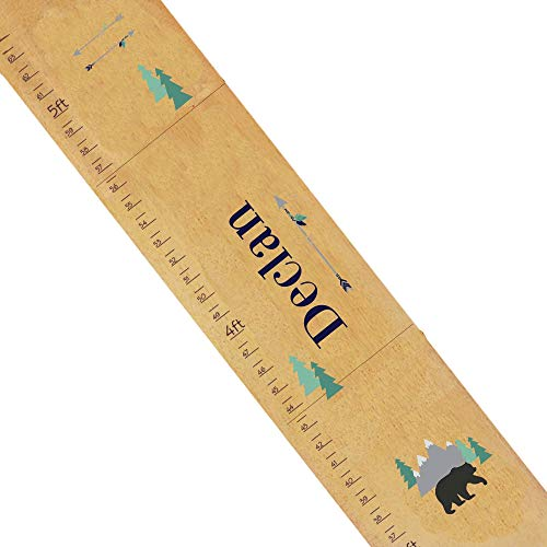 Personalized Mountain Bear Natural Growth Chart