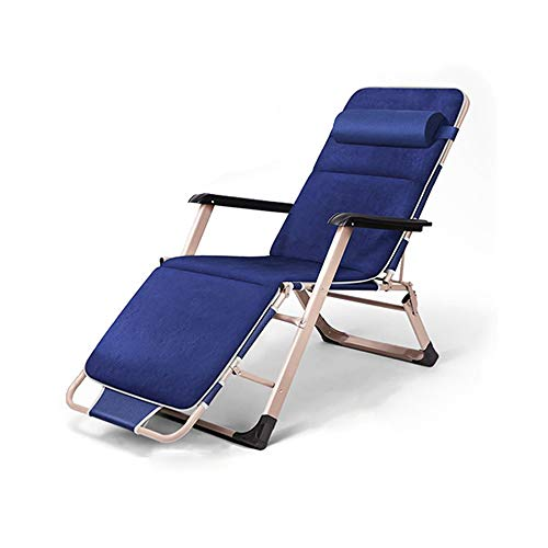 WANGLXFC Draagbare vouwstoel, ligstoel, Dual-use Recliner Office Recliner Lounge Vouwbed Verbrede buis, voor Patio, Tuin, Conservatorium Relax
