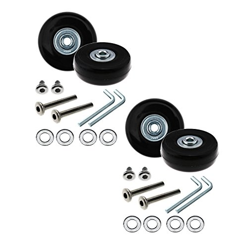 D2D 4 Set Luggage Suitcase Wheels 50mm Repair Kit Axles Rubber Metal Replacement Accessories tool
