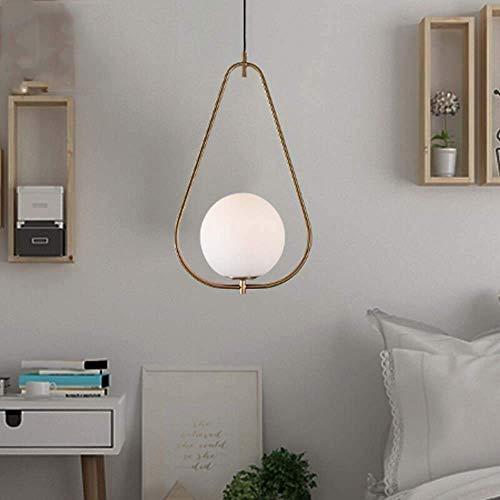 Exquisita Duradera LED pendiente de la luz E27 * 1 hierro iluminación lámpara del dormitorio Estudio Cafe Bar Isla de la lámpara de la lámpara de techo individuo creativo Comedor Araña (Color: C), Col