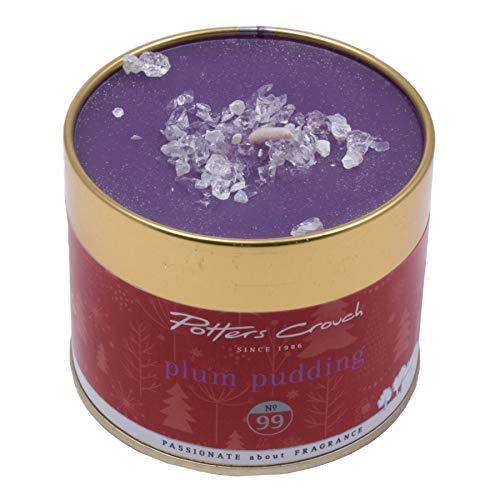 Potters Entre Jambes Plum Pudding Bougie parfumée dans boîte en métal