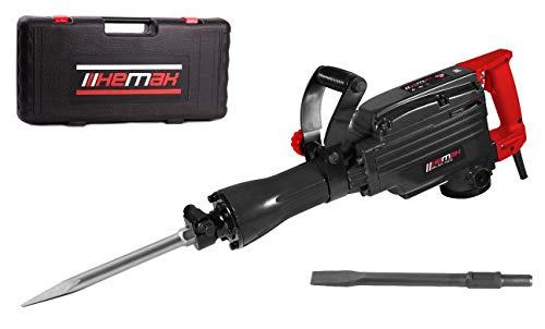 HEMAK HK-AH 1600 Abbruchhammer 43 Joule Stemmhammer inkl. 2 Meißel 1600W