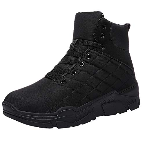 for Shoes,AIMTOPPY Casual Men's Outdoor Winter Plus Velvet Anti-Skid High-Top Motorcycle Boots
