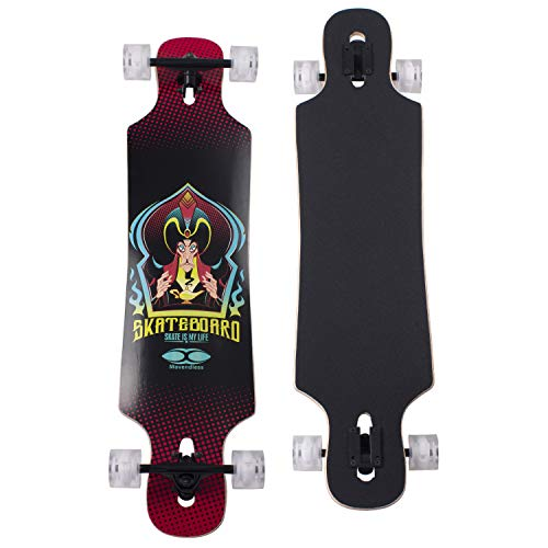 "YD-0014 42"" Inches Skateboard Drop Through Freestyle Longboard, 7 Layer Canadian Maple Wood Deck"