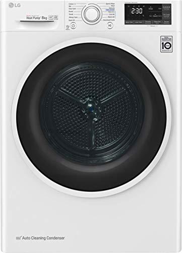 LG Asciugatrice RC80U2AV4Q EcoHybrid, 8 Kg Classe A+++ a Condensazione con Pompa di Calore