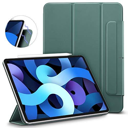 ESR Magnetische Hülle für iPad Air 10.9 2020(4.Generation) [Praktische Magnetbefestigung] [Trifold Smart Case] Rebound-Serie, Grün.