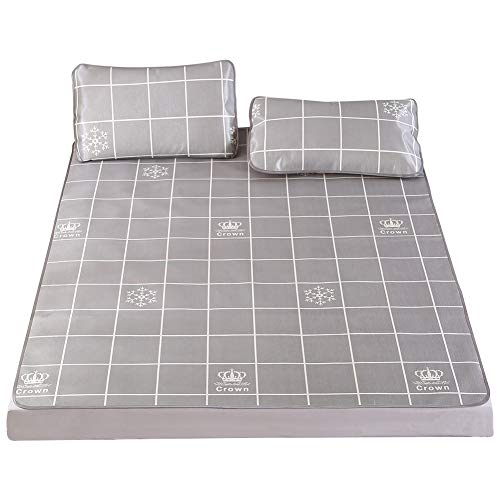 Alfombrilla de enfriamiento con funda de almohada, cubierta de seda plegable de hielo plegable de verano con impresión 3D, almohadilla de gel de colchón frío individual Funda de cama cómoda (#1)