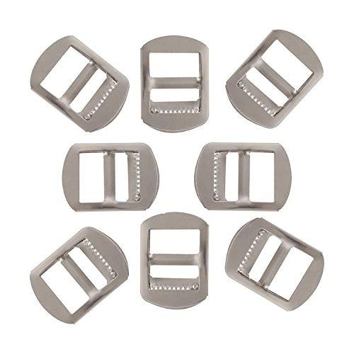 Trimming Shop Metalen Ladder Zilver Slider Verstelbare Gespen Bevestigingen voor Rugzak Banden, Schoeisel, Kleding Accessoires, Leathercraft