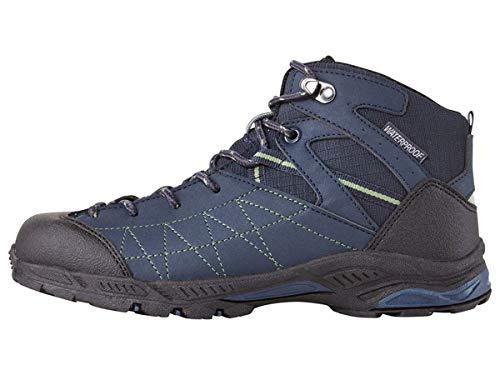 Crivit Jungen Outdoorschuhe Trekkingschuhe Wanderschuhe Stiefel Atmungsaktiv Wasser und windabweisend durch eingearbeitete TEXMembran (Dunkelblau Schwarz, 33)