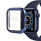 iTecFree for Apple Watch Case 40mm Shiny Blue PC Hard Protective Cover Bumper with Screen Protector for iWatch SE Series 6 / Series 5 / Series 4 Accessories. (Blue, 40mm)