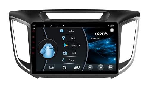 AEBDF Android 10.1 Car Radio Stereo 9.0 Pulgadas Pantalla táctil de Alta definición Navegación GPS Bluetooth Reproductor USB para Hyundai ix25 2014 2015 2016 2017,8 Core 4G WiFi 4+64(1din)