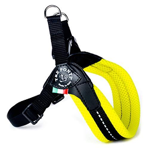 TRE PONTI Easy Fit Mesh Classic Neon Pettorina per cani, taglia 4, giallo