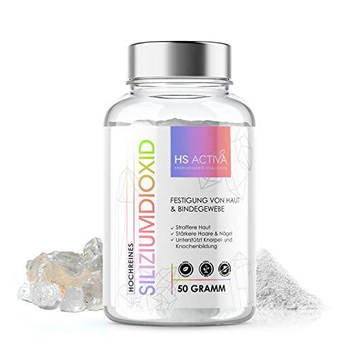 Silicium 50 Gramm Für Haare, Nägel, Haut und Bindegewebe Hochwertige Nahrungsergänzung Spurenelemente