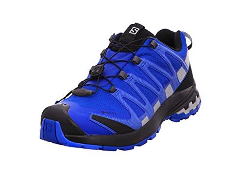 Salomon XA Pro 3D V8 Gore-Tex (impermeable) Hombre Zapatos de trail running, Azul (Turkish Sea/Black/Pearl Blue), 40 EU