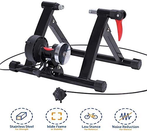 Drohneks Bike Turbo Trainer Soporte magnético para bicicleta, soporte estacionario, soporte para bicicleta de 200 kg, con bloqueo de rueda de liberación rápida y resistencia a 6 niveles