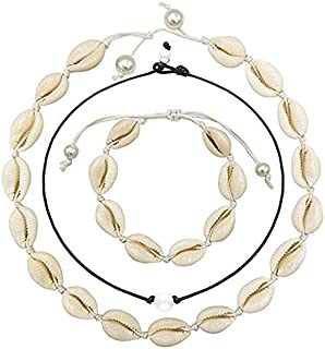 JMcall® Shell Pearl Choker Necklace for Women Hawaiian Seashell Pearls Choker Necklace(Color:Multicolor,Material:shell)