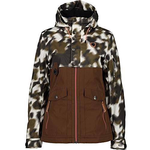 Rehall Bellah-r Skijacke Snowboardjacke Winterjacke Damen Jacke White camo, Größe:XL