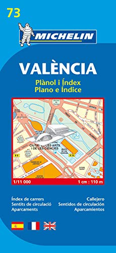 Valencia - Michelin City Plan 73: City Plans (Planos Michelin)
