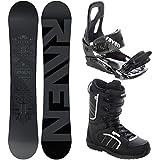 RAVEN Snowboard Set: Snowboard Solid Steel + Bindung s200 Black + Boots Target (152cm + s200 M/L + Target 44)