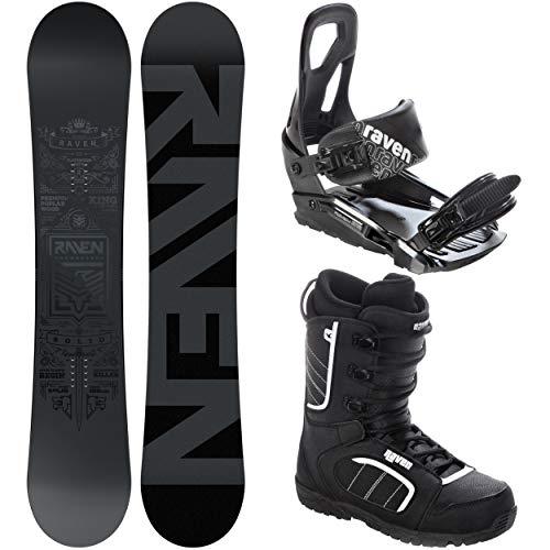 RAVEN Snowboard Set: Snowboard Solid Steel + Bindung s200 Black + Boots Target (152cm + s200 S/M + Target 41)