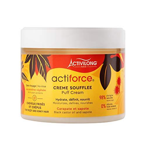 """Activilong - Crema soffice """"Actiforce Puff Cream"""", a base di olio di ricino nero giamaicano e di sapote, confezione da 300 ml"""