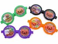 【ハロウィンおもちゃ】 ハロウィン プリントメガネ 25入