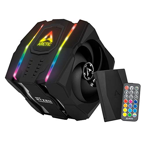 ARCTIC Freezer 50 TR (inkl. A-RGB Controller) - Dual Tower CPU Kühler für AMD Ryzen Threadripper sTRX4, sTR4 mit A-RGB, 120 mm/140 mm PMW P-Lüfter, 200–1800 u. 200–1700 RPM, Optimale Luftzirkulation