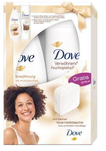 Dove Set con cuidado de ducha, Body Lotion Plus pequeño neceser