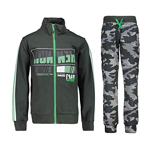 CMP trainingspak joggingpak sportpak groen opstaande kraag camouflage