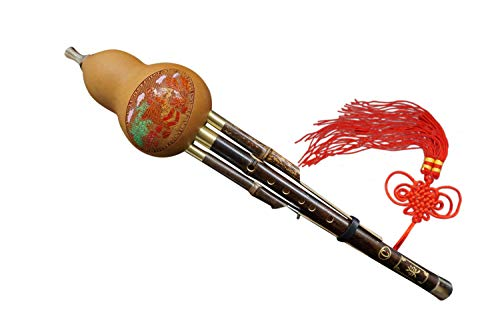 100% Flautas Hulusi Hechos a Mano de Madera de Bambú Chino #104