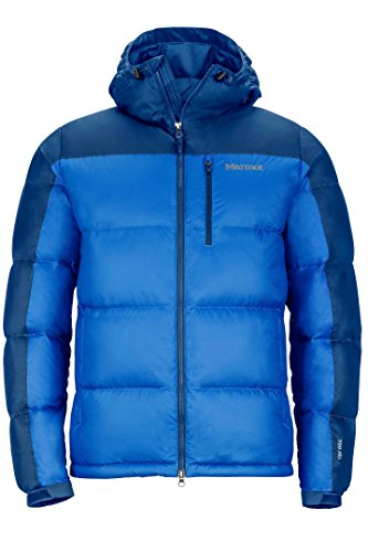 Marmot Guides Down Hoody Men's Winter Puffer Jacket, Fill Power 700, Cobalt Blue/Blue Night, Large