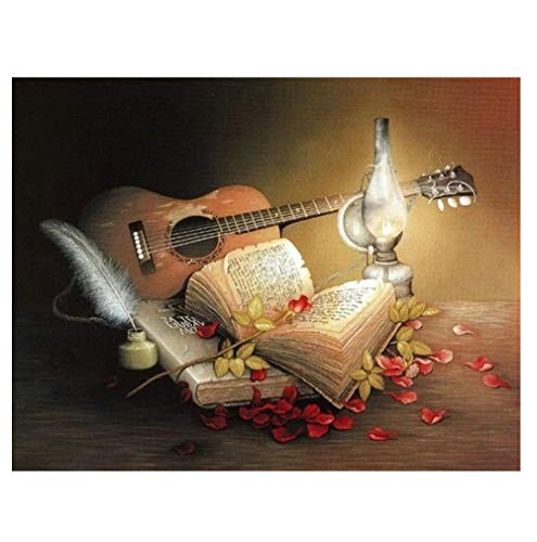 Musikbuch für den Gitarrenverkauf Diamant Stickerei Malerei Strass Bohrer Runde Quadrat 5D DIY Diamant Malerei Kreuzstich-Kits