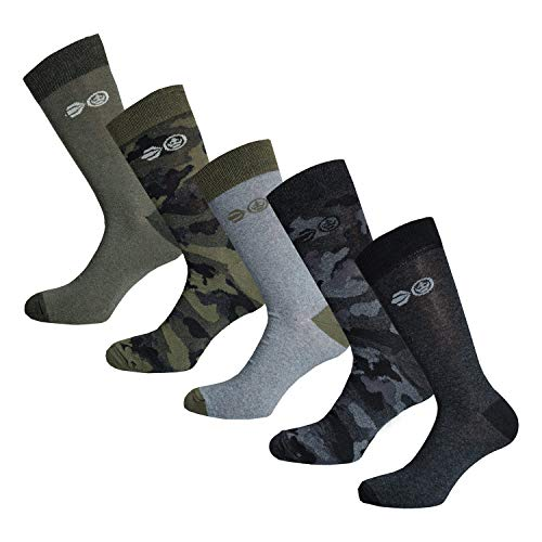Crosshatch Mossdale Camo Socks & Hoisery Green/Camo One Size