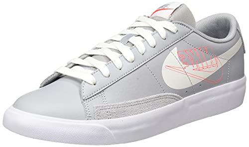 Nike Blazer Low MR, Zapatillas de bsquetbol Hombre, Wolf Grey Sail Bright Crimson White, 42 EU