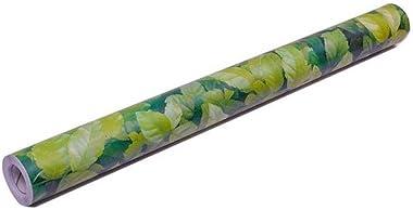 Univocean 3D Green Leaf Design Peel and Stick Self Adhesive Wallpaper, PVC Waterproof HD Wall Sticker (Multicolor)