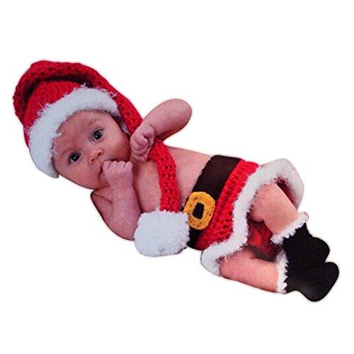 HAPPY ELEMENTS Infant Costume Newborn Fotografia Prop Babbo Natale a maglia Outfit
