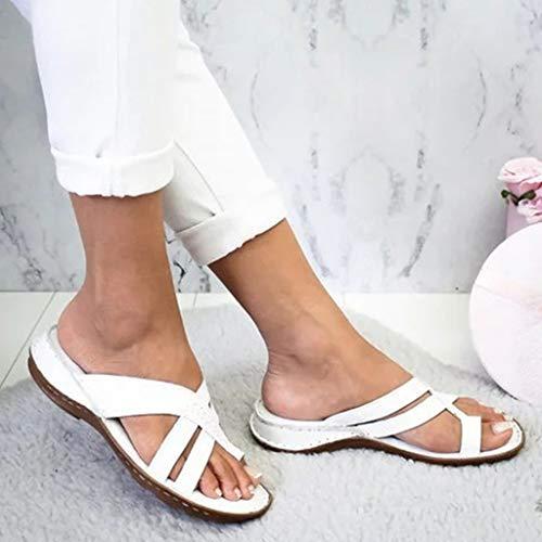 Mihoutao Zapatos cómodos con Sandalias de Plataforma, Alivio del Dolor de la...