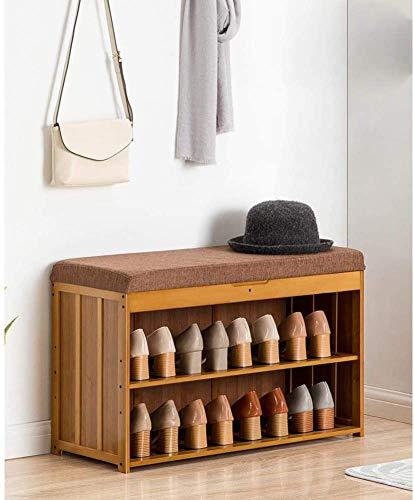 ZouYongKang Banco de Zapatos Zapatos de Almacenamiento Gabinete con Acolchado de cojín, Zapatos Organizador de Armario Rack tapizado para Taburete de Vida de Entrada (Size : 80cm)
