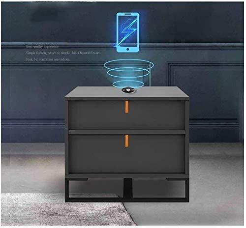 Papperstillbehör Wghz trådlös laddning Smart sängbord med 2-låds ändbord Multifunktionellt sovrumsbord för hemmakontoret