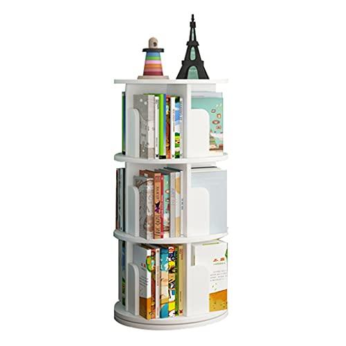 Scaffale Multistrato Girevole A 360 ° Scaffale da Terra per Camera da Letto Semplice Scaffale per Libri Illustrato per Bambini (Color : Bianca, Size : 46 * 98cm)