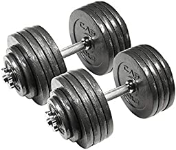 CAP Barbell 200-Pound Adjustable Dumbbell Weight Set, Black