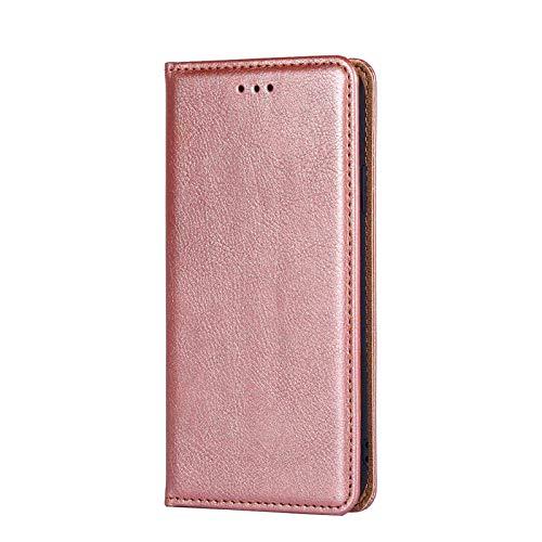 KERUN Funda para Teléfono Samsung Galaxy A52 (4G / 5G) Libro, [PU + TPU] [Plegable Magnético] [Ranura para Tarjeta] [Soporte] Cuero doblado, Anti-vibración Anti-caída Ligero y Duradero.Oro Rosa