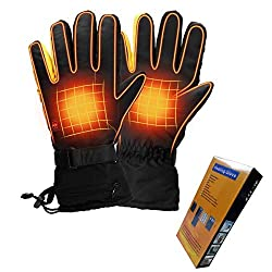 Housefar Heated Gloves 3 Levels Temperature Control Hand Warmer Waterproof Electric Heated Gloves For Outdoor Skiing Cycling Horse Riding Hunting Fishing Hiking