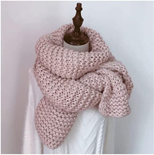 ShSnnwrl Wrap for Women Neatly Stitched Bufanda sólida Gruesa para Mujer Otoño Invierno Grueso suéter cálido Bufandas Hombres Mujeres chales lar