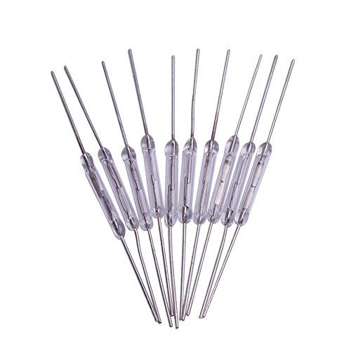 Cylewet 10Pcs Reed Switch Normally Open (N/O) Magnetic Induction Switch Electromagnetic for Arduino (Pack of 10) CYT1004